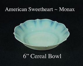 "MacBeth Evans American Sweetheart Monax 6"" Cereal Bowl"