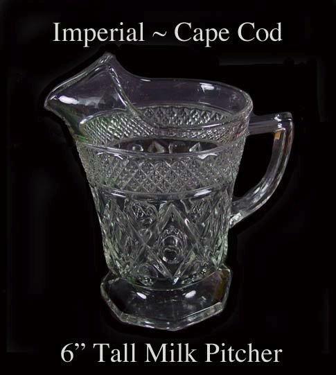 Imperial Glass ~ Cape Cod 16oz 1 Pint Milk Pitcher