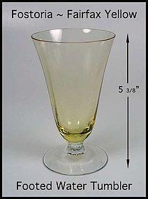 Fostoria Fairfax Topaz Yellow Water Tumbler