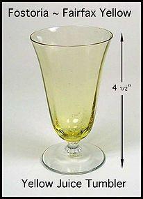 Fostoria Fairfax Topaz Yellow Juice Tumbler