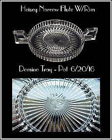 Heisey Narrow Flute With Rim #473 Domino Sugar Tray