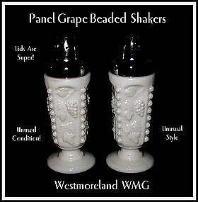 Westmoreland Paneled Grape Beaded SALT & PEPPER Shakers