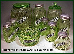 Vintage Like Anchor Hocking Foil Canister~Shaker Labels