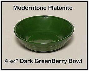Moderntone Platonite Dark Green Berry Bowl