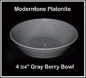 Moderntone Platonite Small Gray Berry Bowl