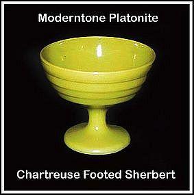 Moderntone Platonite Chartreuse Footed Sherbert
