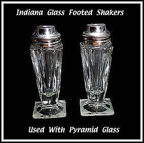 Vintage Indiana Pyramid Style SALT & PEPPER Shakers