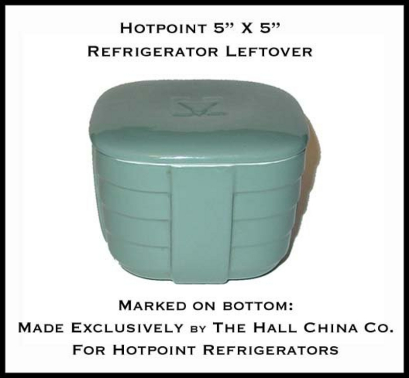 Hall China Hotpoint Square Green Refrigerator Leftover