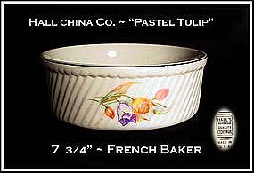 "Hall China Pastel Tulip 8"" French Baker"