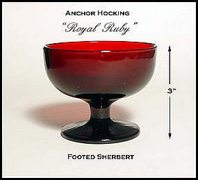 Hocking Glass Royal Ruby Footed Sherbert ~ Mint!