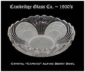 Cambridge Caprice Alpine 5 inch Berry Bowl