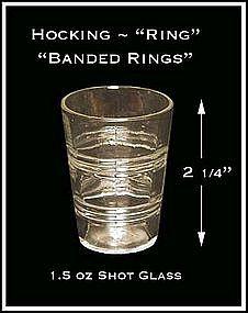 Ring Crystal Short 1.5 oz Whiskey Glass ~ Hocking