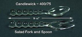 Candlewick ~  400/75 ~  Spoon & Fork Salad Set