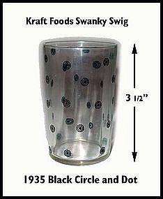 Kraft Foods~Swanky Swig~1935 Circle & Dot Cheese Glass