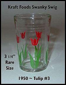 Kraft Foods~Swanky Swig~1950 Red Tulip #3 Rare Size