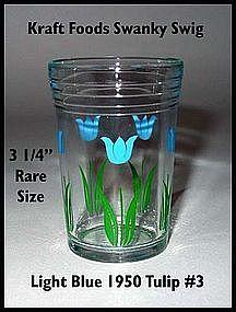Kraft Foods~Swanky Swig~1950 Lt Blue Tulip Rare Size