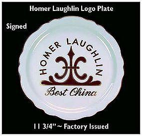 "HLC~Homer Laughlin China Co.~12"" Logo Plate ~ Super!"