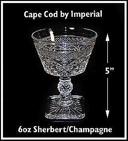 Imperial ~ Cape Cod ~ 6 oz Sherbert or Saucer Champagne