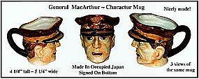 Occupied Japan ~ General MacArthur Charactor Mug