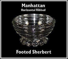 Hocking ~ Manhattan ~ Footed Sherbert