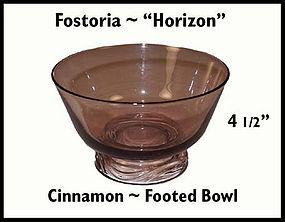 Fostoria Horizon Cinnamon Footed Bowl 1950's