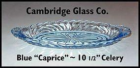 Cambridge Glass Blue Caprice 10 inch Relish/Pickle Tray