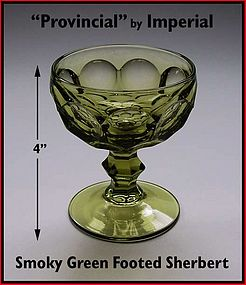 """Heisey """"Provincial"""" by Imperial Smoky Green Sherbert"""