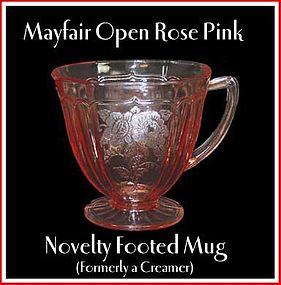 Mayfair Open Rose Pink Footed Mug/Creamer