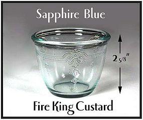Hocking Fire King Sapphire Blue Custard Cup