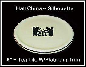 "Hall Taverne Silhouette 6"" Tea Tile or Hot Pad"