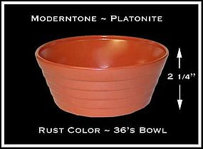 Moderntone Platonite Fired On Rust Color 36s Bowl