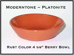 Moderntone Platonite Fired On Rust Color Berry Bowl