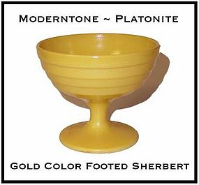 Moderntone Platonite Fired On Gold Color Sherbert