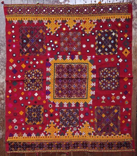 Rajasthan | Silk Sindh Embroidered Dowry Cover