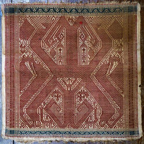 Indonesia | Antique ceremonial weaving <i>tampan</i>