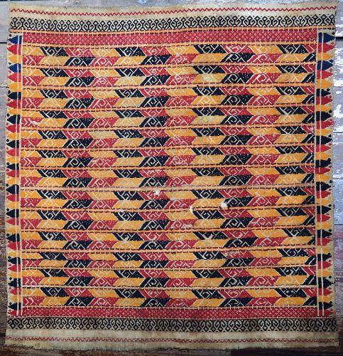 Indonesia | Antique ceremonial ship-cloth <i>tampan</i>