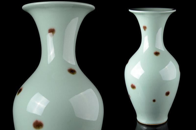 Japanese Celadon vase made by Suwa Sonzan 2nd