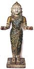 Indian Antique Alabaster Figure of Female Divinity