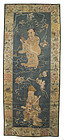Chinese Silk Embroidery with Figures in Dragon Robes