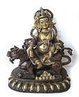 Gilt Bronze Figure of Kubera God of Wealth