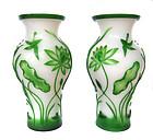 Antique Chinese Peking Glass Vases