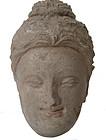 Antique Ghandaran Stucco Head