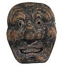 Antique Japanese Gigaku Mask