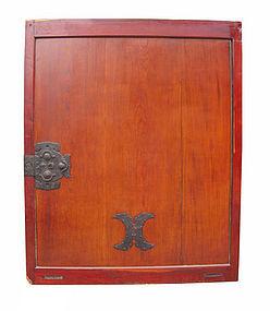 Japanese Large Antique Keyaki Kura Door