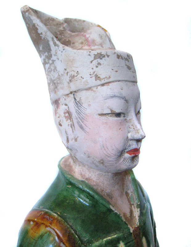 Chinese Large Tang Dynasty Sanchai Glazed Guardian