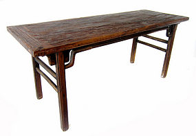 Chinese Antique Large Rustic Jumu Wood Table