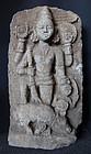 Antique Indian Durga Sculpture
