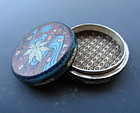 Japanese Cloisonne Round Small Container