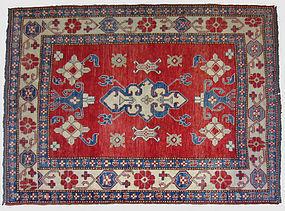 Vintage Hand-Knoted Kazak Rug