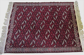 Antique Hand Knotted Yomud Rug